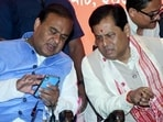 In Assam, however, the BJP leadership in Delhi is yet to decide between Sonowal and Sarma for the top post. In picture - Himanta Biswa Sarma and Sarbananda Sonowal.(ANI)