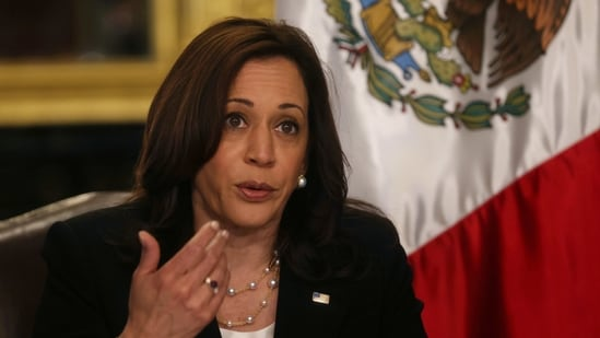 Speaking at an online event, US vice president Kamala Harris delivered a message of solidarity with the people of India.(Reuters)
