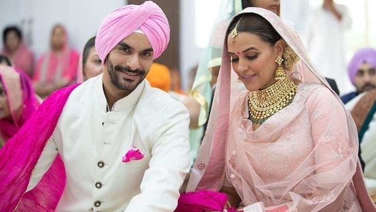 Angad Bedi and Neha Dhupia got married in May 2018.