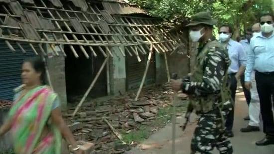 MHA officials at North 24 Parganas, West Bengal. (ANI)