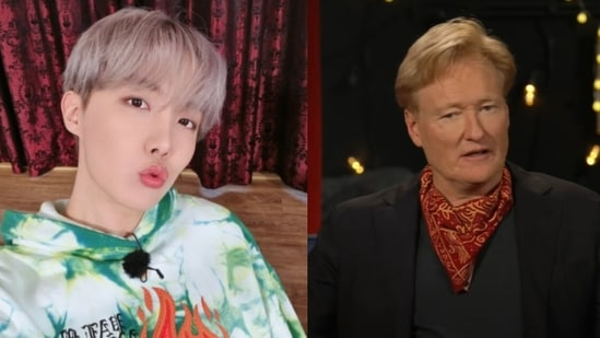 BTS member J-Hope apologises to Conan O'Brien after calling him 'curtain'.