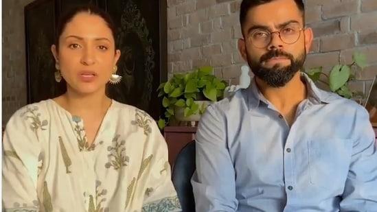 Anushka Sharma and Virat Kohli.(Screengrab/Twitter)