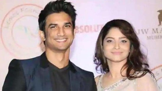 Sushant Singh Rajput and Ankita Lokhande's pcitures featured together in a textbook.