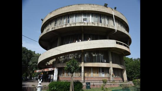 Panjab University vice-chancellor launched the e-library on Friday. (HT File)