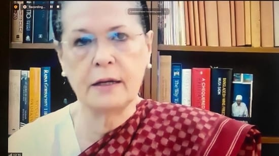 Sonia Gandhi on Friday held the Congress Parliamentary Party meeting virtually.