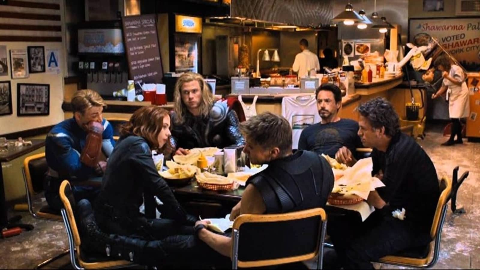 Did you know Avengers' shawarma scene was shot after the film's premiere,  partially spoiled by Robert Downey Jr? | Hollywood - Hindustan Times