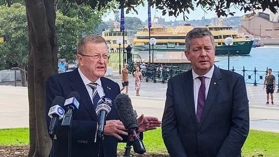 International Olympic Committee Vice President John Coates and Australian Olympic Committee Chief Executive Matt Carroll.(REUTERS)