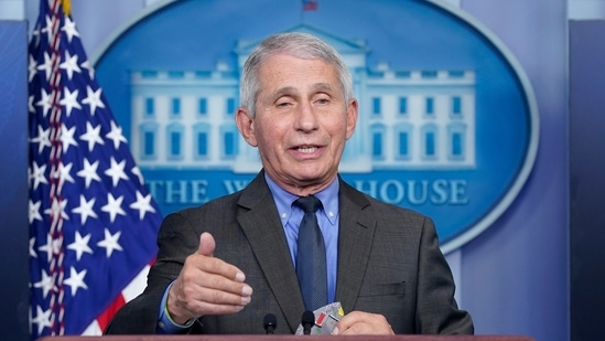 Dr Anthony Fauci, director of the National Institute of Allergy and Infectious Diseases, speaks during a press briefing at the White House.(AP / File)