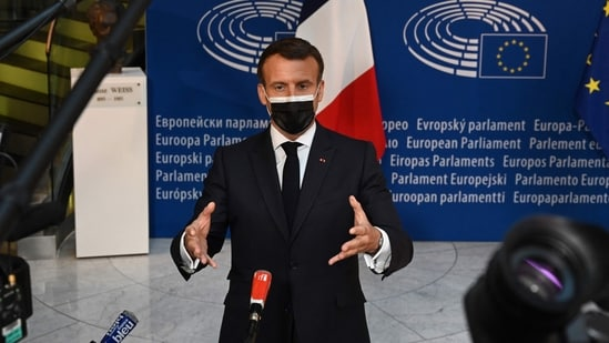 """""""What Europe do we want in 10 years, 15 years from now?,"""" Emmanuel Macron asked in his opening speech, calling on people to debate all major issues.(AFP)"""