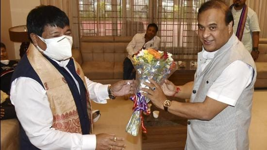 Sarma is expected to take oath of office at Srimanta Sankardev Kalakshetra in Guwahati with a small cabinet. (PTI)