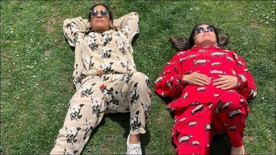Masaba Gupta, Neena Gupta ring in 'maa divas' together in fuss-free silhouettes(Instagram/masabagupta)