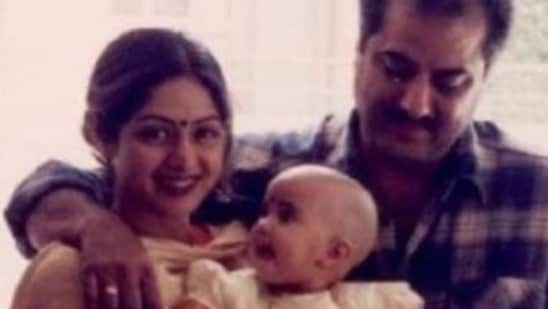 Janhvi Kapoor and Khushi Kapoor have shared childhood pics with their late mom, Sridevi.