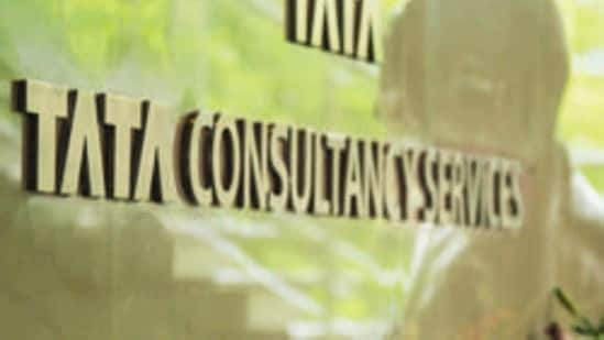 The market valuation of Tata Consultancy Services (TCS) jumped <span class='webrupee'>₹</span>34,623.12 crore to reach <span class='webrupee'>₹</span>11,58,542.89 crore. (Photo by Aniruddha Chowdhury/Mint)