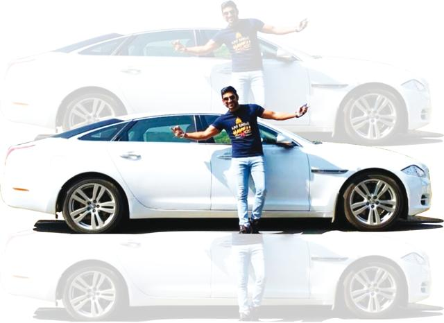 Sharad, who'd go to school on his dad's cycle, now owns a Jaguar