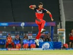 IPL 2021: RCB pacer Harshal Patel in action.(PTI)