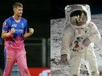 Chris Morris (left) and Neil Armstrong on the moon (right)(HT Collage)