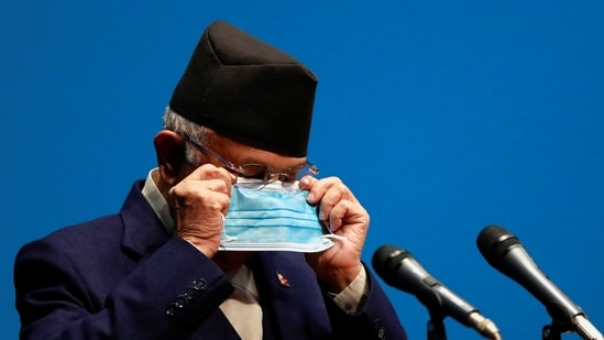 Nepal's Prime Minister K P Sharma Oli required at least 136 votes in the 275-member House of Representatives to win the confidence motion.(Reuters)