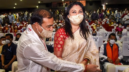 """Riniki Bhuyan Sarma was all praise for her 52-year-old husband in the manner he tackled the Covid-19 pandemic in the state and """"though it is far from over, he is trying to sincerely deal with the challenge"""". (PTI Photo) (PTI)"""