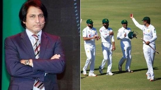 Ramiz Raja reacts to Pakistan's triumph over Zimbabwe(HT Collage)