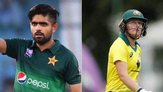 Pakistan captain Babar Azam (L), Australia's wicketkeeper-batswoman Alyssa Healy(HT Collage)