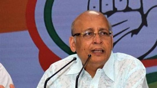 """""""I genuinely tweeted it when I noticed a striking coincidence in North Eastern states,'' Congress leader Abhishek Manu Singhvi said.(HT File Photo)"""