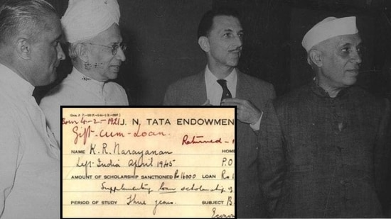 Sarvepalli Radhakrishnan, Jawaharlal Nehru and JRD Tata in New Delhi, October 28, 1958.(File Photo)