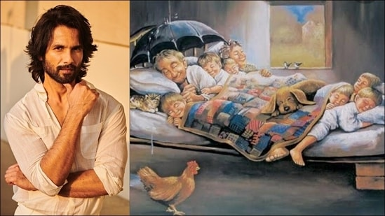 Shahid Kapoor shares 'picture of happiness' by Turkish artist and here's what it means(Instagram/shahidkapoor)