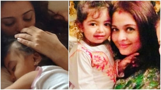 Aishwarya Rai has shared photos with her daughter Aaradhya on Mother's Day.