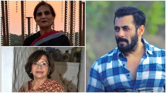 Salman Khan shared pictures of his mothers Salma Khan and Helen on Instagram on Mother's Day.