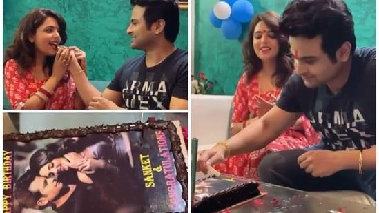 Sugandha Mishra shared a glimpse of Sanket Bhosale's birthday celebrations.