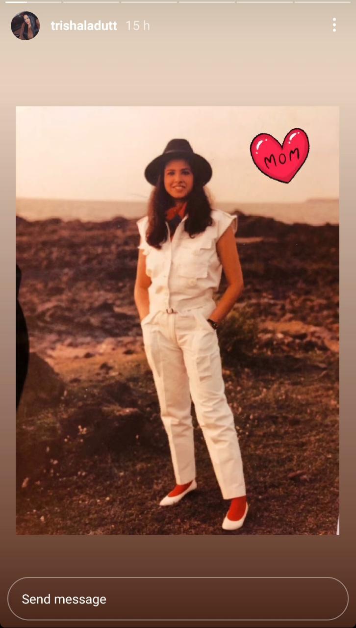 Trishala Dutt shares a picture of her mom Richa Sharma.