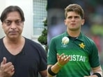 Shoaib Akhtar (left) and Shaheen Afridi (right).(HT collage)