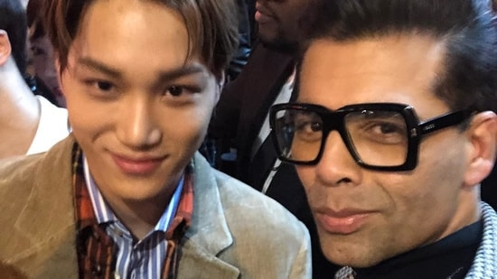 EXO member Kai and Karan Johar met at a Gucci fashion show in 2018.