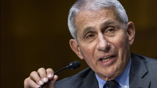 Anthony Fauci, director of the National Institute of Allergy and Infectious Diseases, speaks during a Senate Health, Education, Labor, and Pensions Committee hearing in Washington, DC on May 11, 2021. (Bloomberg)