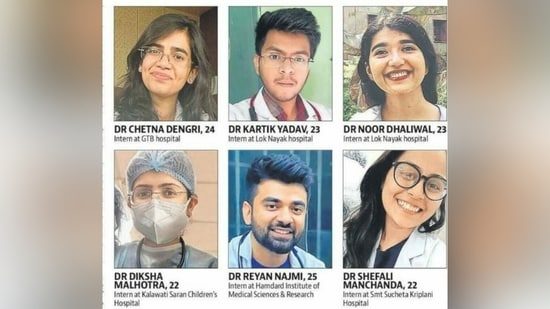 Young doctors who are pursuing their last year of MBBS or mandatory internship year have been roped in at Covid hospitals across the city in the last two weeks to help in the fight against the pandemic.