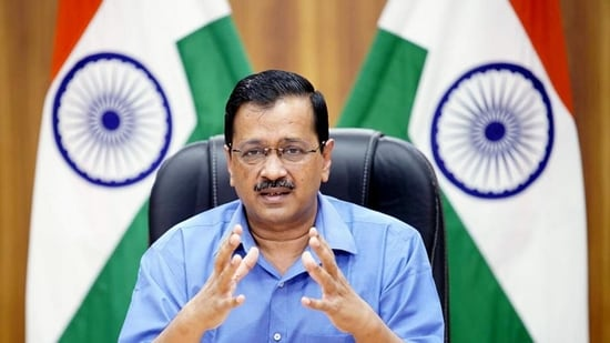Chief minister Arvind Kejriwal addressed the people of Delhi through a virtual conference on Tuesday.(ANI)