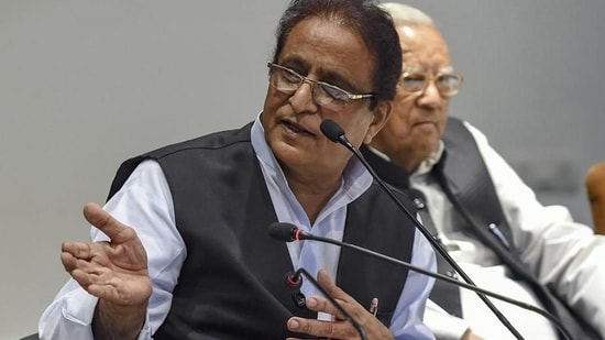 In September 2019, the court had issued summons to Azam Khan, his wife Tazeen Fatima and their son taking cognizance of the charge sheet filed by Rampur police,(PTI file photo)