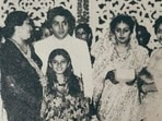Raveena Tandon has shared a black and white picture from the wedding of Rishi Kapoor and Neetu Singh.