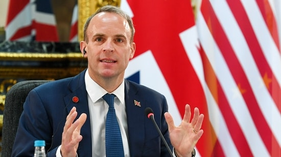 British foreign minister Dominic Raab said Britain and its partners needed to take action to ensure there was a cyberspace that was free, open and peaceful in the face of hostile states, (Bloomberg)