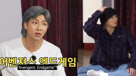 BTS leader RM and Jungkook from Run BTS Ep 141.