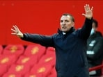Leicester City manager Brendan Rodgers: File photo(Pool via REUTERS)