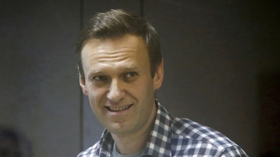 Russian opposition politician Alexei Navalny attends a court hearing in Moscow on February 20, 2021. (Reuters file photo)