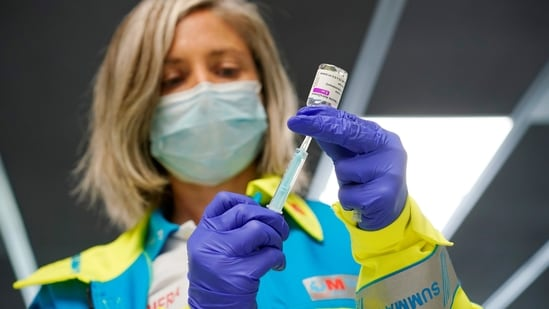 The EU's vaccine rollout got off to a slow start and was held back by concerns over rare blood clots possibly linked to Astra's shot.(Reuters file photo)