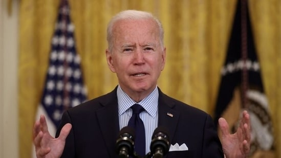 US president Joe Biden called for calm in the Israel-Palestine conflict as the death toll soared in Gaza Strip, but said that the Jewish state had a right to defend itself. (File Photo / REUTERS)