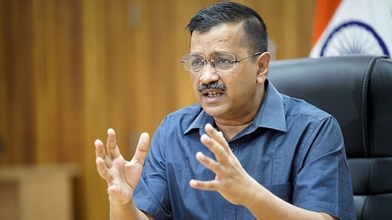 Delhi Chief Minister Arvind Kejriwal addresses the media on Covid-19 situation, in New Delhi on Tuesday. (ANI Photo)