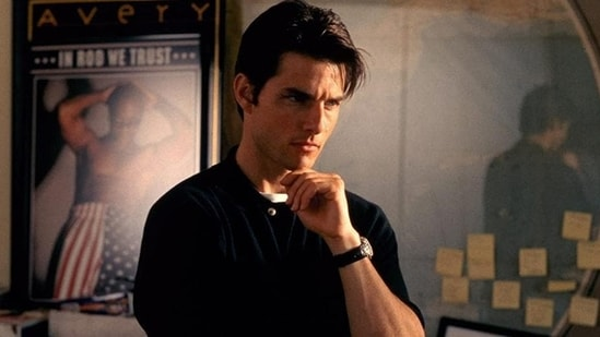Tom Cruise, seen here in a still from Jerry Maguire, is a firm believer of Scientology.