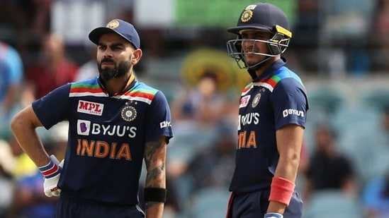 Virat Kohli and Shubman Gill during the ODIs against Australia last year. (Getty Images)