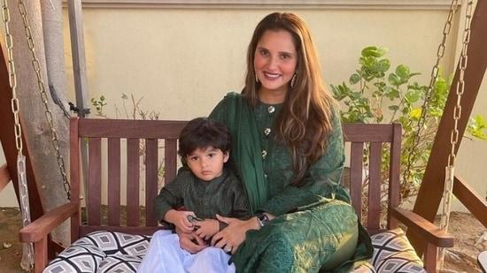 Sania Mirza with son Izhaan on Eid (Instagram/mirzasaniar)