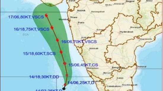 The major impact from the cyclone is expected over southeast, east-central and northeast Arabian Sea, Lakshadweep – Maldives and Lakshadweep Islands and along the coats of Kerala, Karnataka, Goa, Maharashtra and Gujarat. (CYCLONE TRACKER: IMD.)