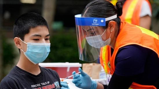 Pfizer's shots have also been cleared for people ages 12 to 15, making them critical to the domestic effort to vaccinate teens. (AP Photo/Marcio Jose Sanchez)(AP)